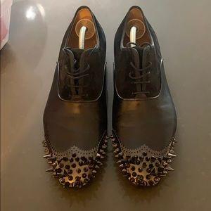 Christian Louboutin men's studded dress shoes